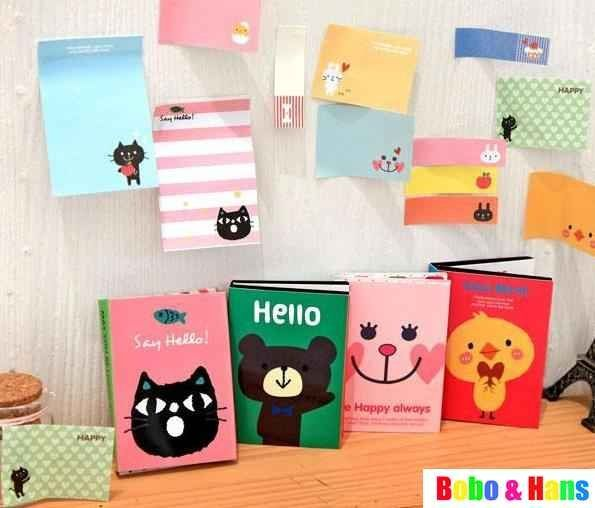 New cute cartoon animals Notepad / Memo pad / Paper sticky note / message post /