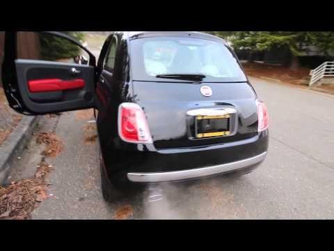 2013 Fiat 500 Lounge   Black   DT754805   Redmond   Seattle