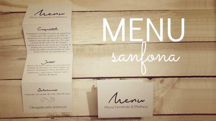 Wedding Menu DIY   Menu de Casamento Sanfona Faça Você Mesmo   http://blogdamariafernanda.com/menu-de-casamento-sanfona