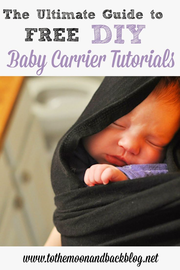 The Ultimate Guide to FREE DIY Baby Carrier Tutorials