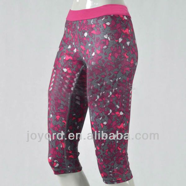 OEM women sexy running shorts 3/4 length digital sublimation $15~$40