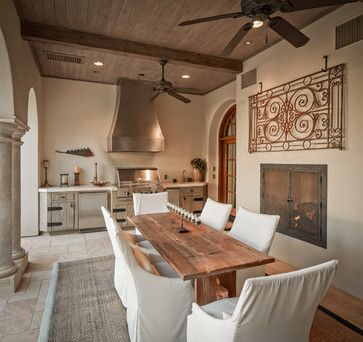 Outdoor kitchen and dining area...