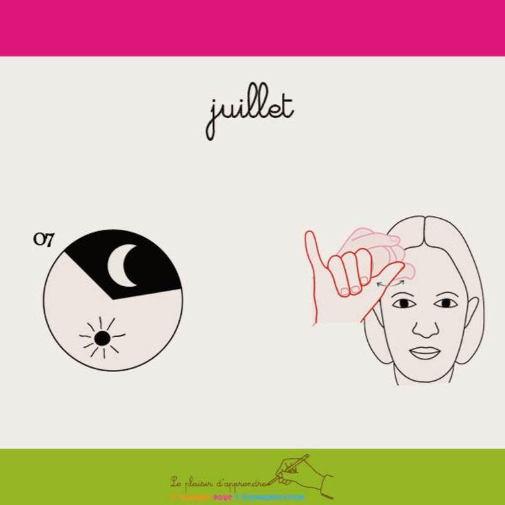 Juillet Langue Des Signes Langue Ecrite Francaise Langue Des Signes Francaise Signes Francais Langue Des Signes