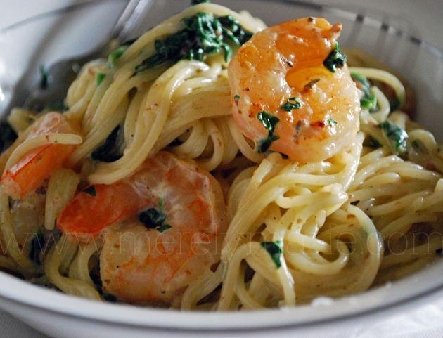 Pasta, shrimp spinach Merely RecipesSpaghetti Squash, Cream Pasta, Spinach Pasta, Shrimp Spinach, Spinach Cream, Tackle Pasta