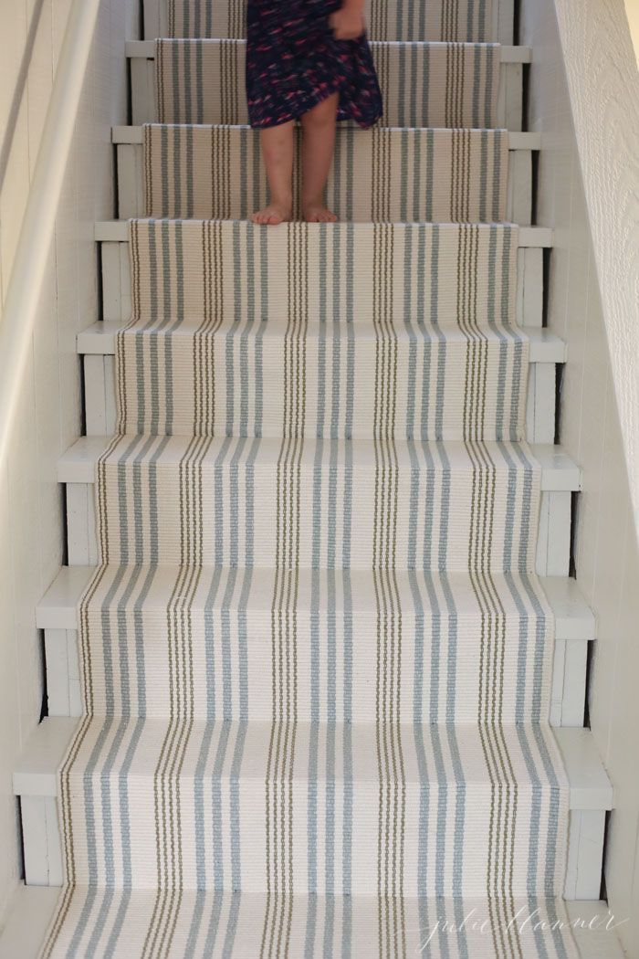 DIY stair runner | how to redo stairs on a budget