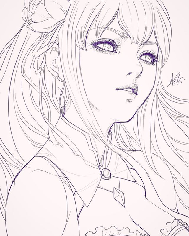Best 25+ Anime Sketch Ideas On Pinterest | Anime Girl Drawings Anime Drawings Sketches And ...
