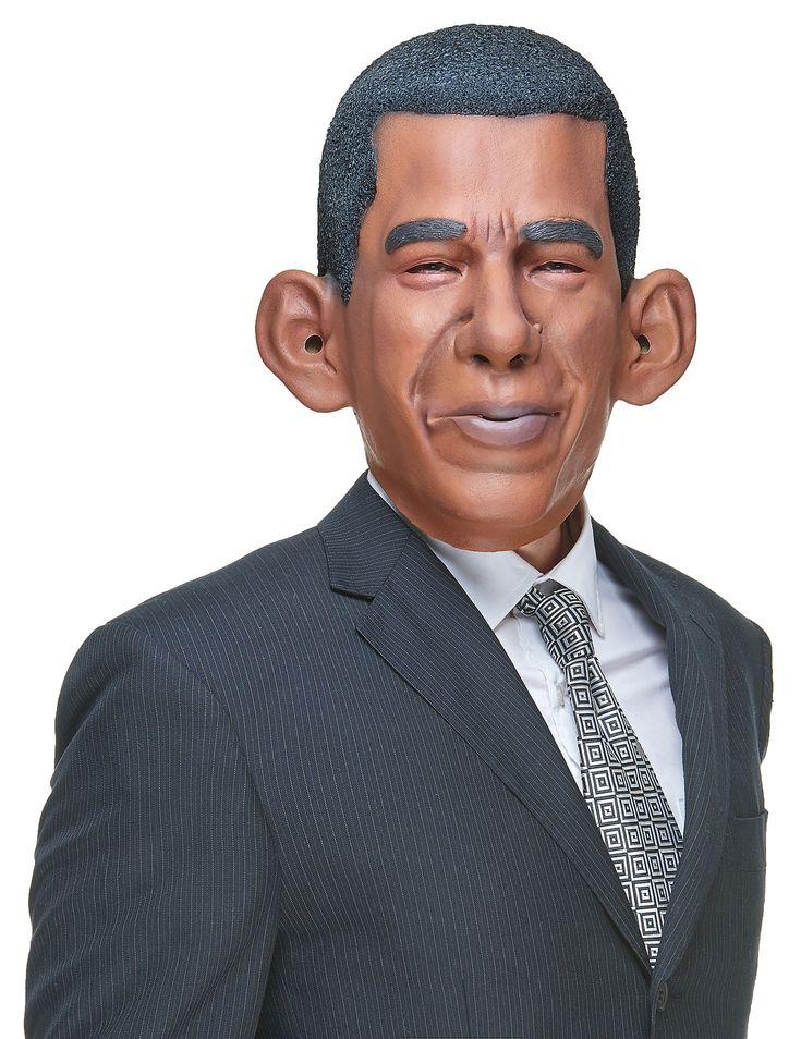 Masque humoristique en latex Barack adulte : Ce masque intégral en latex est pour adulte et représente le visage du président américainObama. L'effet de texture donne un effet très réaliste... #ElectionsUS #ElectionsPrésidentielles #HommePolitique