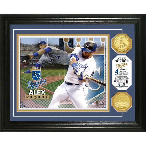 """Alex Gordon Kansas City Royals Highland Mint 16"""" x 13"""" Player Photomint - $99.99"""