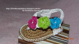 Booties For Baby - Baby Life: Walkthrough Sandal Crochet