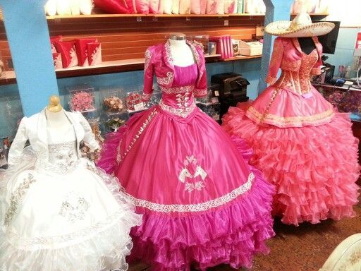 15 Anos Dresses Pink: Ranchera Quinceanera Dresses - Google Search