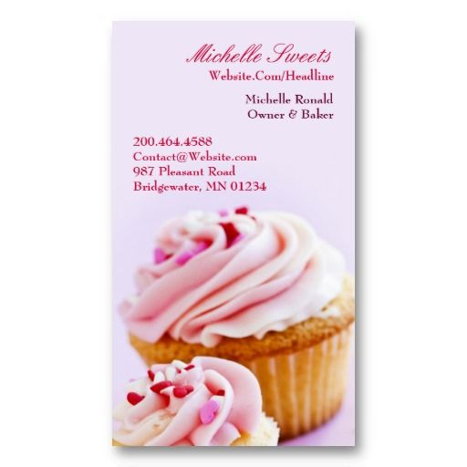 16 best cupcake shaped business cards images on pinterest bakery bakery cupcakes business card fbccfo Gallery