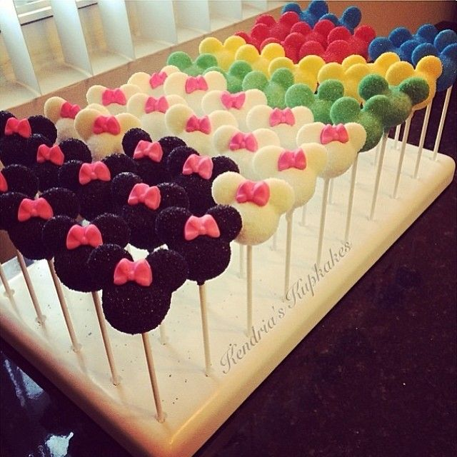 Mickey & Minnie Mouse cake pops | Cake Pops & Treats on ... Mickey And Minnie Cake Pops Instructions