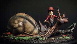 The Neverending Story Teeny Weeny Racing Snail by yotaro-sculpts