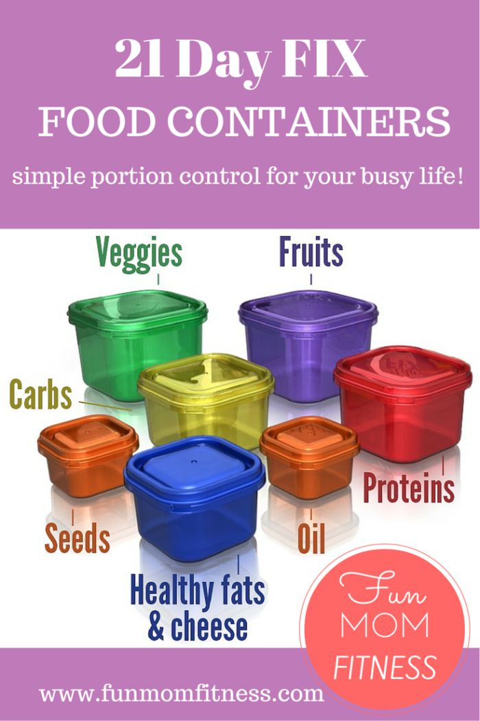 The 21 Day Fix Food Containers make the portion control part of this clean eating and workout program SO EASY!