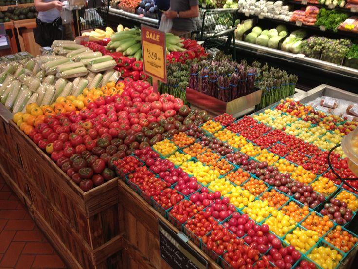 Durst organic cherry tomatoes produce display