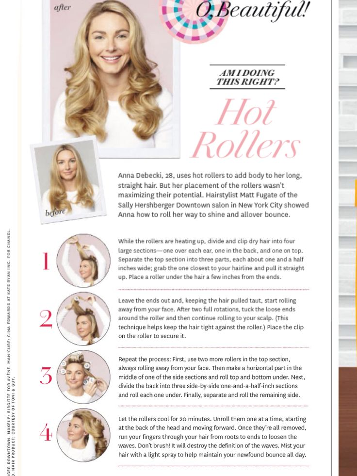 How to use hot rollers properly
