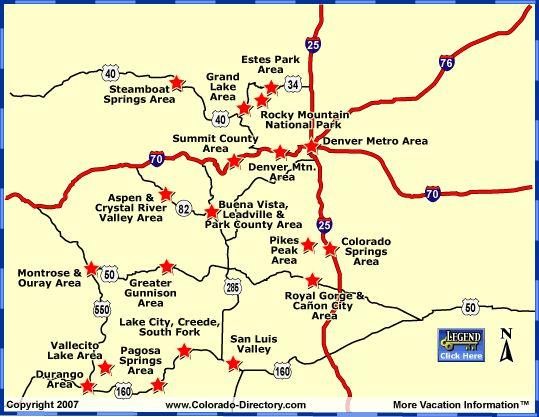 Maps Of Ski Resorts In Colorado