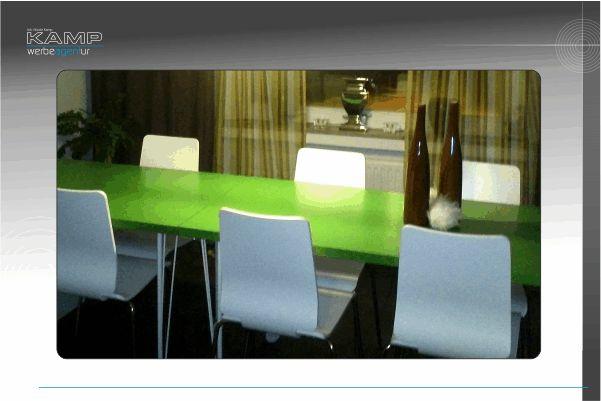 Tagungsräume, Besprechungszimmer, Aufenthaltsräume freundlich modern gestaltet, schafft positives Arbeitsklima.Lassen Sie sich beraten von der Agentur-Kamp, Nicole Kamp, Werbeagentur Kamp