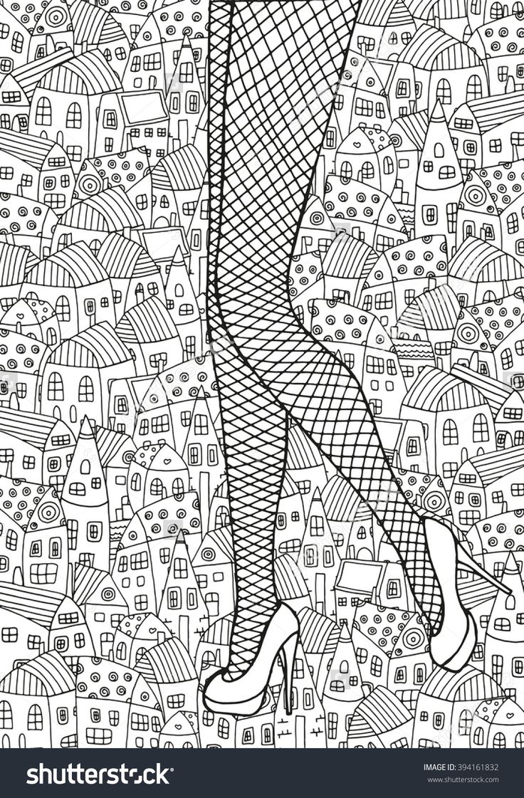 Ice Skate Zendoodle ✐adult Colouring Shoes Feets Hands