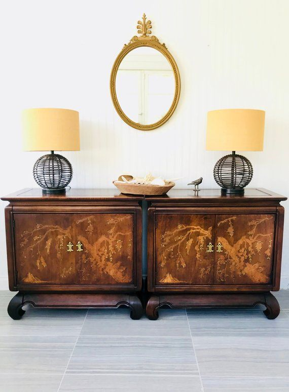Pair Of Asian Ming Style Cabinets Clearance Matching Vintage