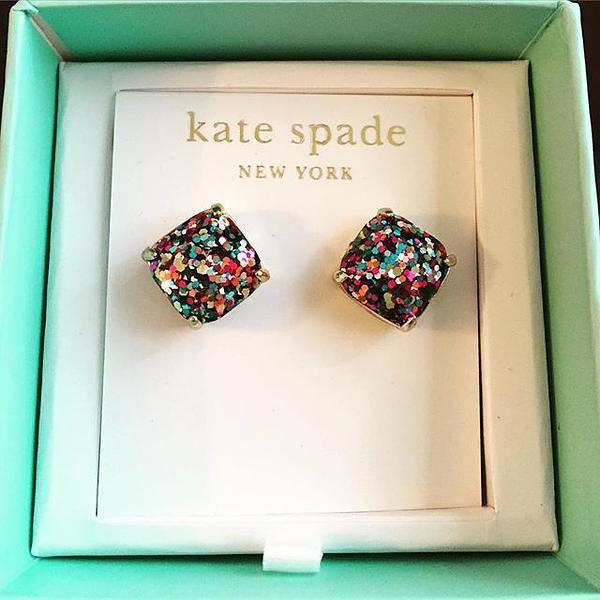 Kate Spade glitter earrings.
