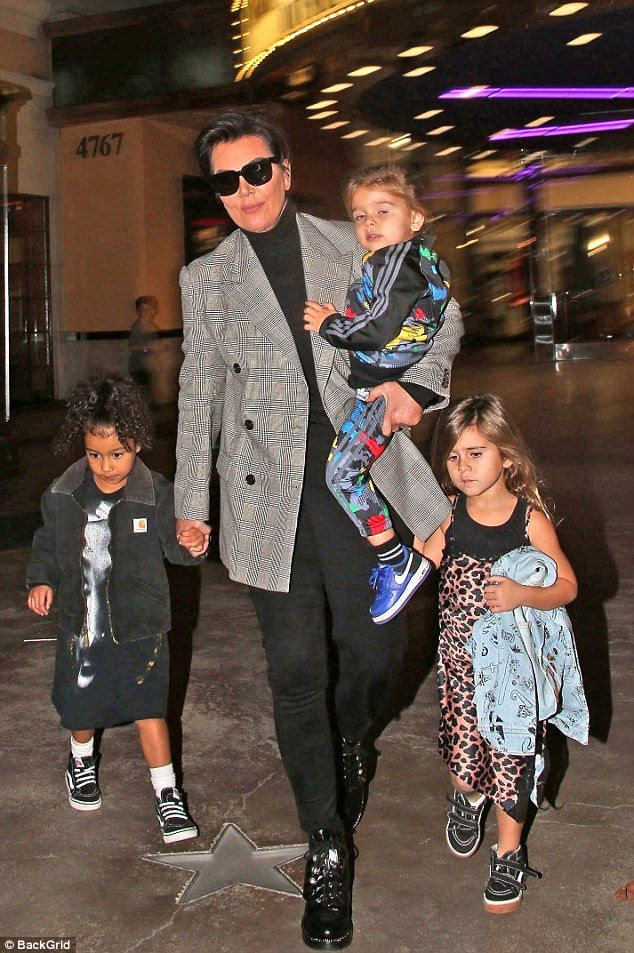Kris Jenner Steps Out With North Penelope And Reign Penelope Disick Style Kardashian Kids Penelope Disick