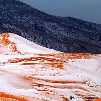 Pertama Kali Dalam 37 Tahun Terakhir Salju Turun di Gurun Sahara