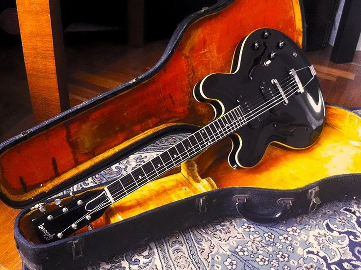 1961 Gibson ES-330 TD Ebony Refinish vintage electric guitar