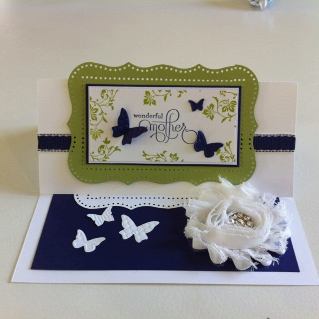 And another made to order for a friend at work- this time an easel card