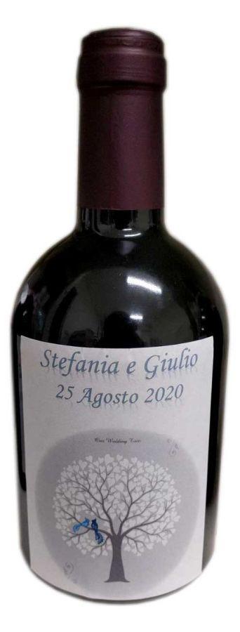 Vino rosso toscano con etichette matrimonio personalizzate