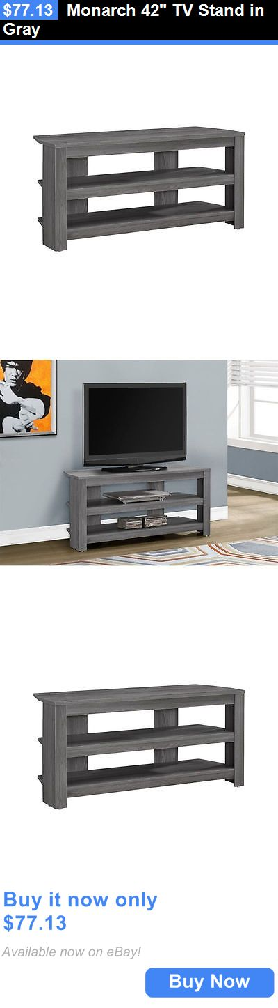 Entertainment Units TV Stands: Monarch 42 Tv Stand In Gray BUY IT NOW ONLY: $77.13