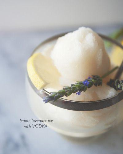Lemon Lavender Ice with Vodka