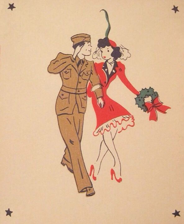 WWII Christmas card.