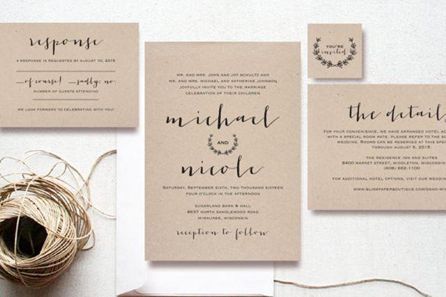 36 Stunning Wedding-Invitation Ideas #refinery29