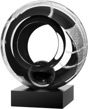 Meditation Black, Anna Ehrner, Kosta Boda - Buy art glass at ArtGlassVista!