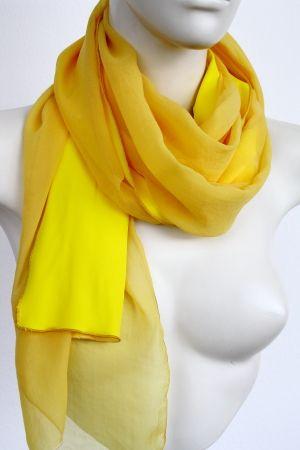 Schal Damen in gelb aus Seide
