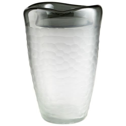 Cyan Design Large Oscuro Vase Oscuro 12.5 Inch Tall Glass Vase, Grey
