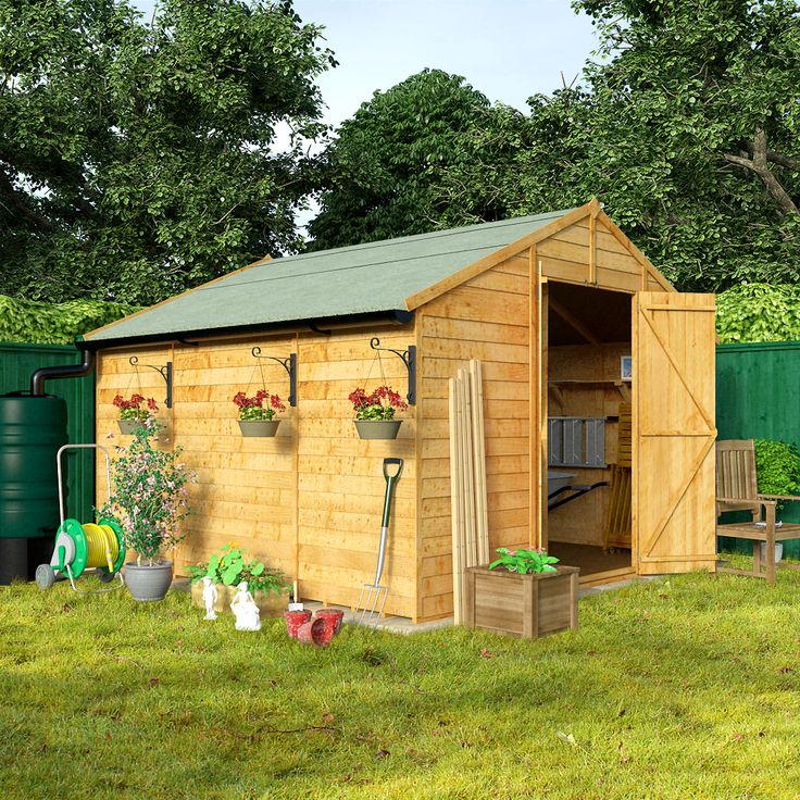 BillyOh 400XL Windowless 10'x10' Lincoln Overlap Workshop Shed