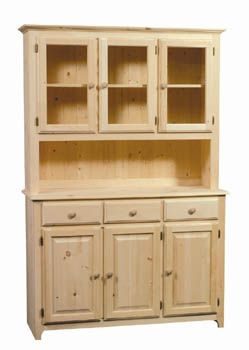 Pine Buffet   Unfinished Furniture New Jersey, New York And Pennsylvania  Offering Unfinished Lighted Buffet