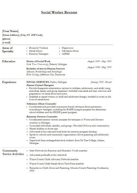 61 best Dameu0027s Resume Planner images on Pinterest Resume tips - social work resumes