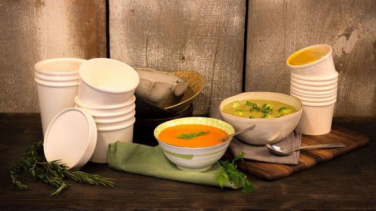 soup cup / mangkuk kertas makanan berkuah / mangkuk kertas tahan air food grade - kjppack.com