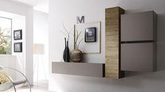 meuble tv etagere bois miel beige mat suspendu linery 7 mobiliermoss