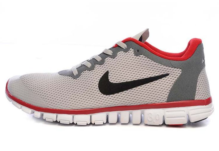Nike Free 3.0 V2 Grey Red Black Running Shoes