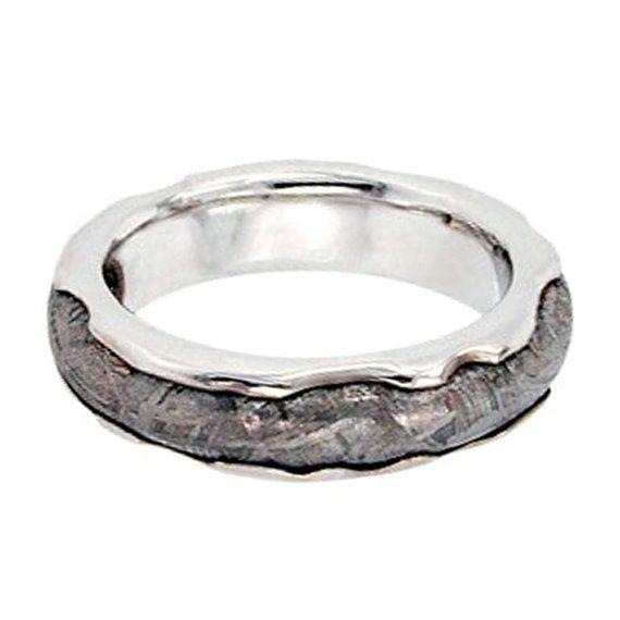 10 k oro blanco anillo de meteorito venda de por jewelrybyjohan