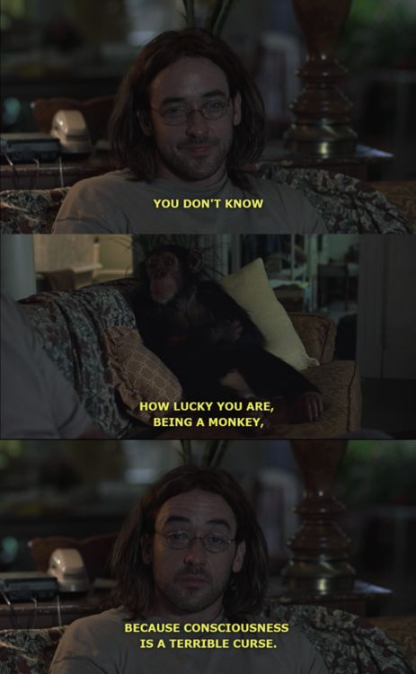 Being John Malkovich -- Elijah, the magnificent chimp. Yes it can be, but that's not the purpose of it.