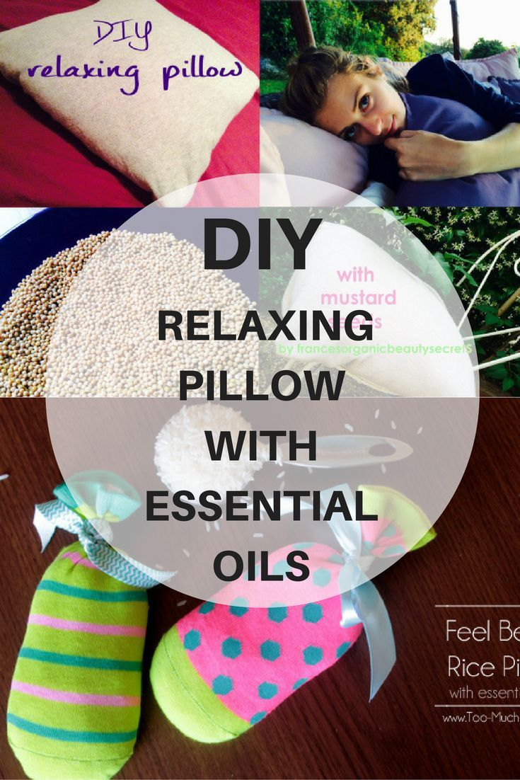 DIY relaxing pillow with essential oils