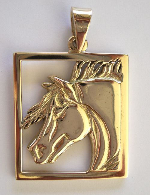Arabian Horse Head Pendant designed by Karen Ryder. Available in sterling silver or solid gold. http://www.horseryder.com.au