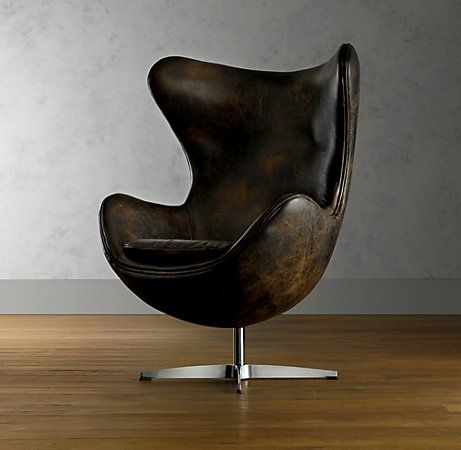 1950's Leather Copenhagen Chair. $1495: Lounges Chairs, Restoration Hardware, Eggs Chairs, Copenhagen Chairs, Leather Copenhagen, Offices Chairs, 1950S Leather, Arne Jacobsen, Leather Chairs