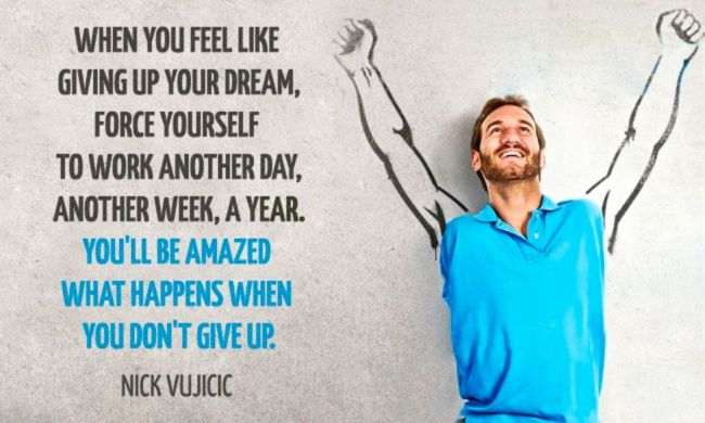 20powerful quotes from Nick Vujicic togive you anew thirst for life