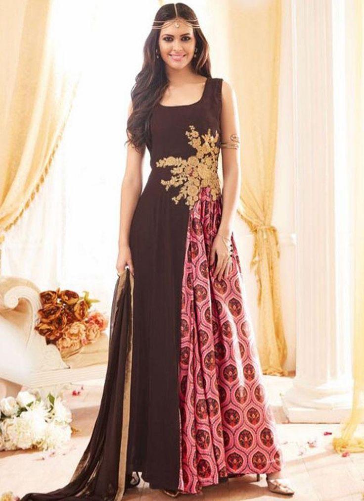 Buy latest salwar kameez designs and designer salwar suits online. Grab this georgette embroidered and resham work floor length designer salwar suit.